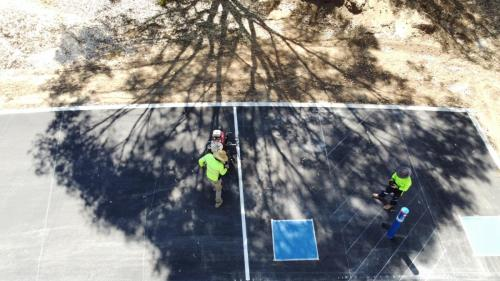 Aerial View painting car park