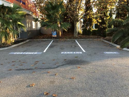 Customer Parking Only Stencil line marking Perth