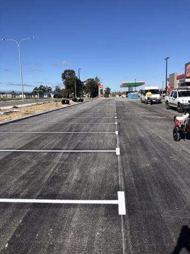 Delineation Line Marking, Perth  WA, Hungry  Jacks Car Park