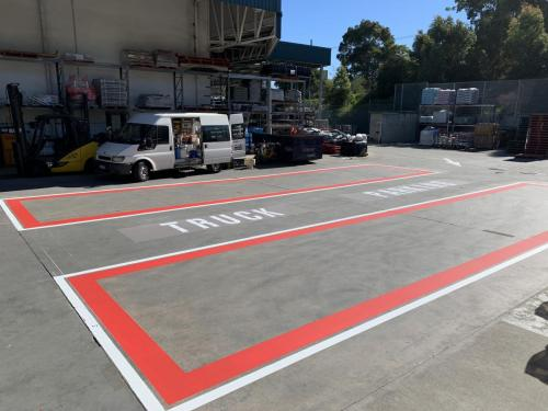 Delineation Line Marking Perth WABunnings Warehouse O'Connor, Goods inwards